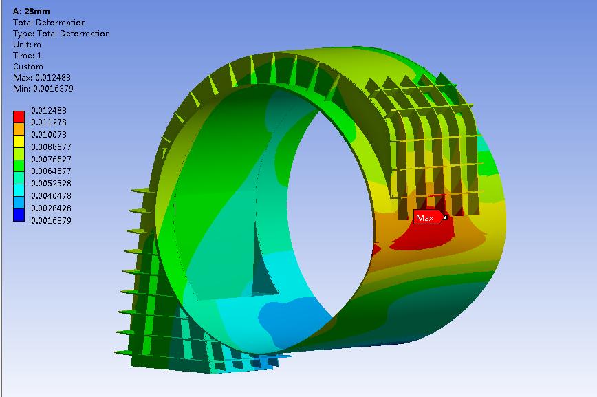 压力容器开孔结构应力分析